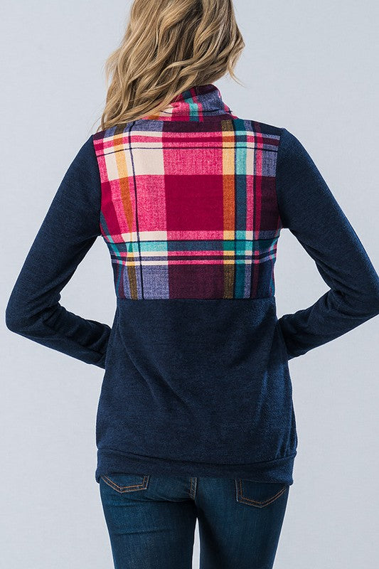 Preppy Plaid Knit Pullover
