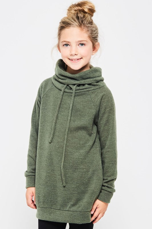 Cowl Neck Sweater w/ Pockets