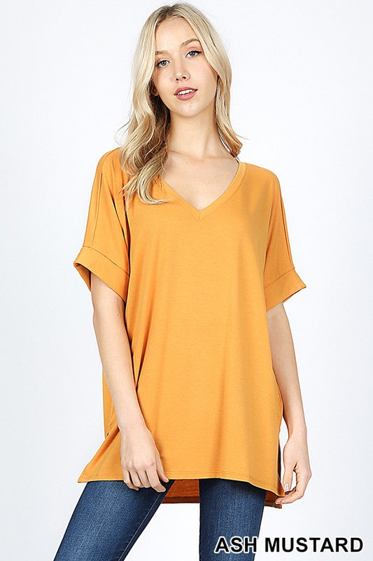 Oversized Boyfriend V-Neck Tee
