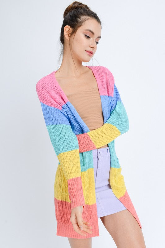 Colorblock Lightweight Cardigan