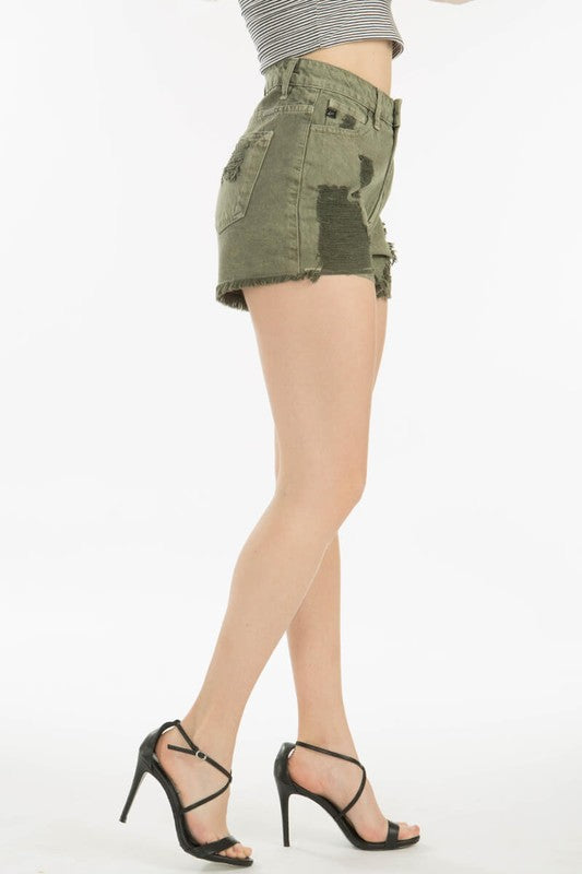 Washed Olive Kancan Shorts