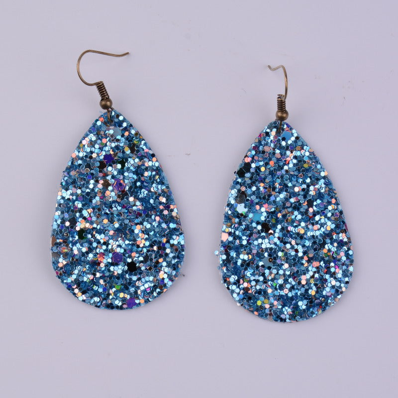 Glitter Earrings w/ Double Sided Glitter
