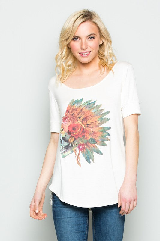 Feather Headdress Tee