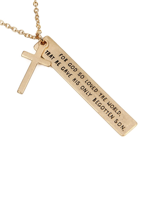 Scripture Charm Necklace