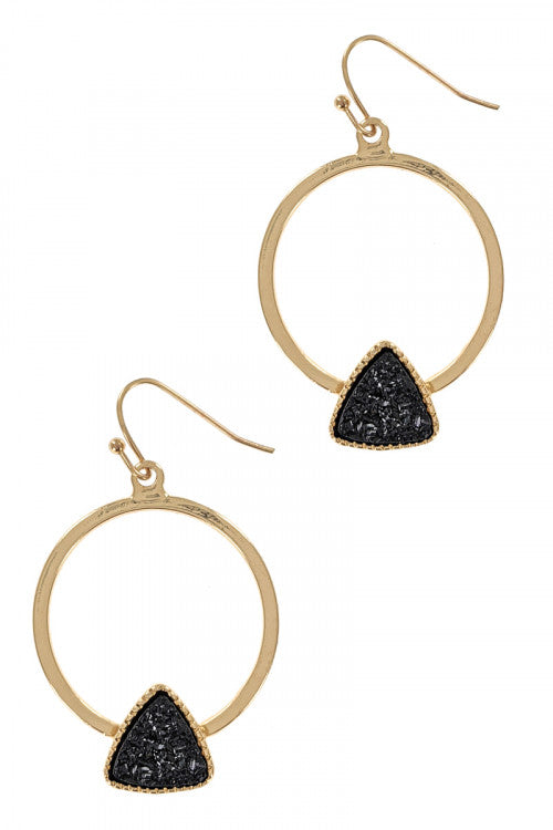 Black+Gold Hoop Earring Collection