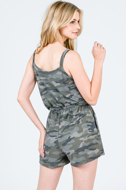 Camo French Terry Romper