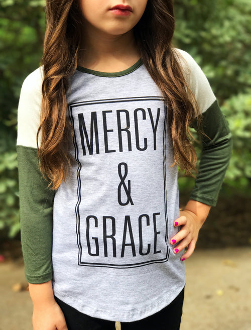 Mercy & Grace Girls Raglan