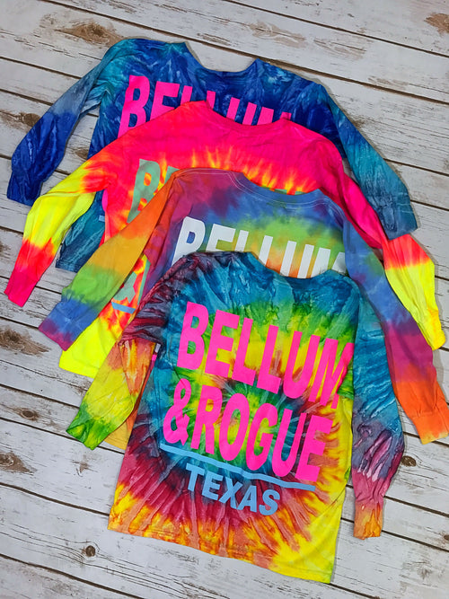 Girls Tie Dye Long Sleeve Tee