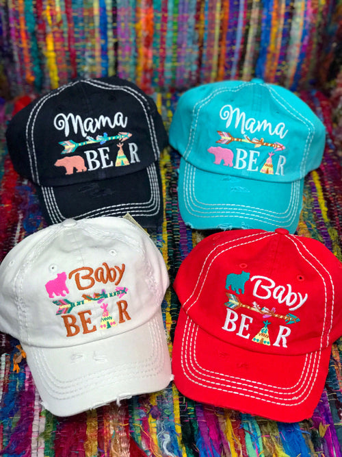 Bear Family Hats