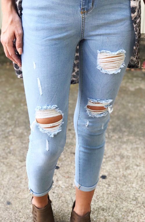 Blue Age Distressed Jeans