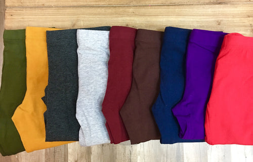 Kids Solid Cotton Legging Sale!