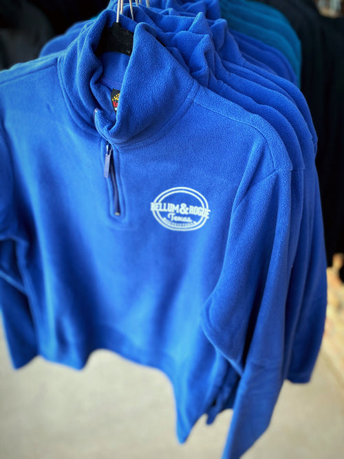 Womens Quarter Zip Light Weight Fleece Pullover