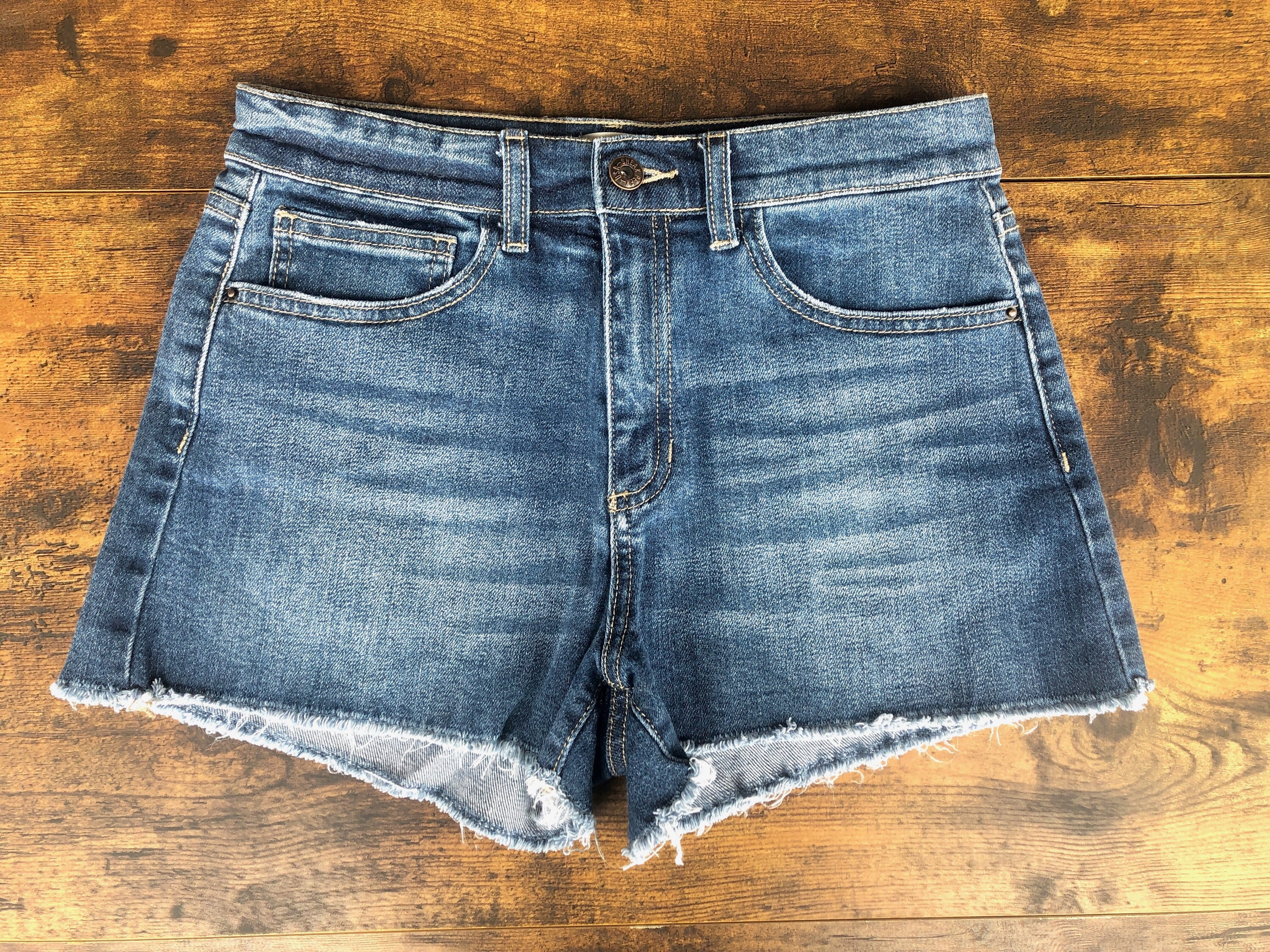 Sneak Peek Medium Wash Shorts