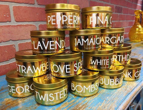 Gold Tin Can Candle