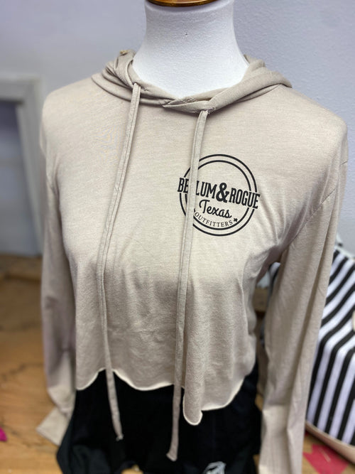 Lightweight Store Logo Crop Hooded Tee