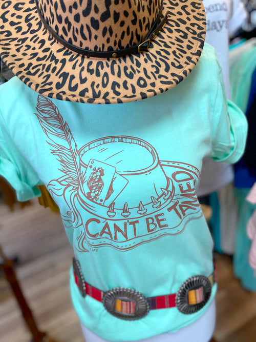 Can't Be Tamed Seafoam Tee