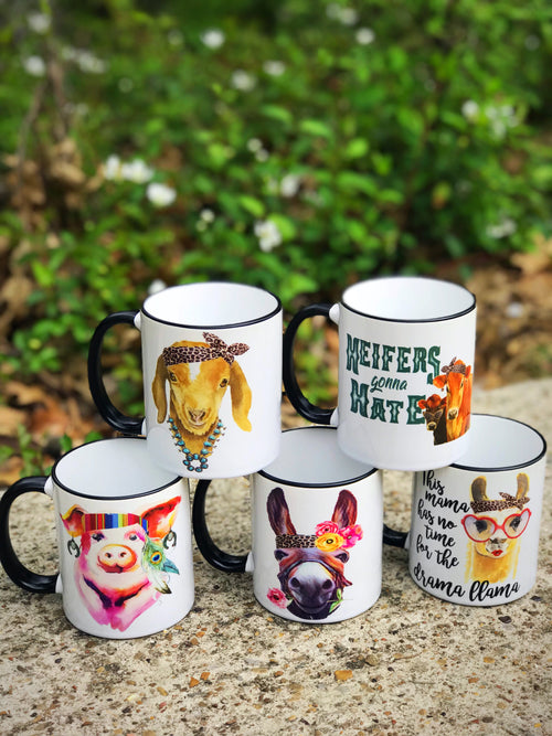 Farm Animal Coffee Cup