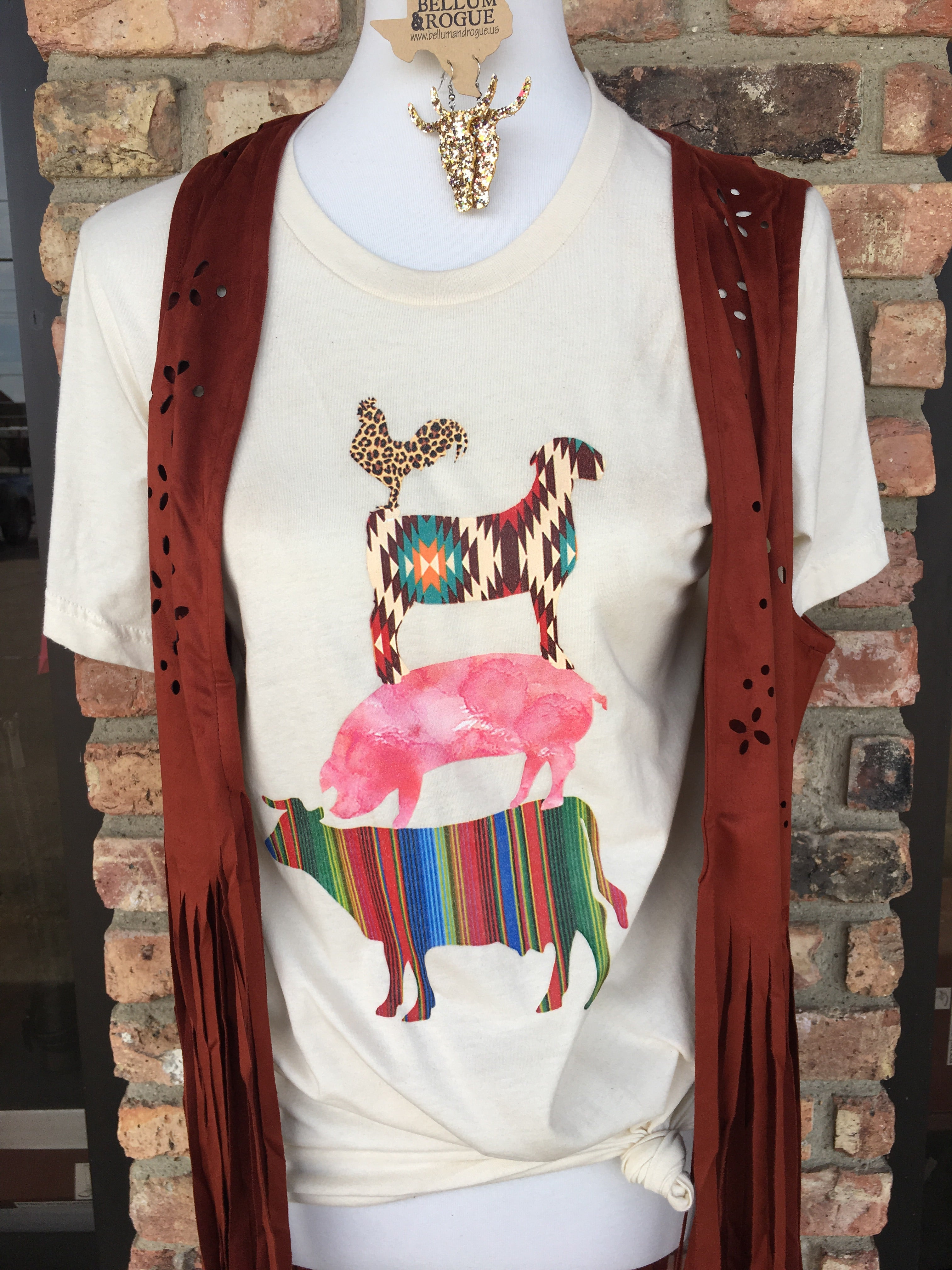Sassy Farm Animal Rodeo Stack **WOMENS & KIDS!**