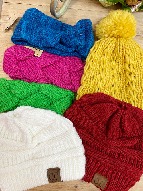 Kids Knit Headbands & Beanie