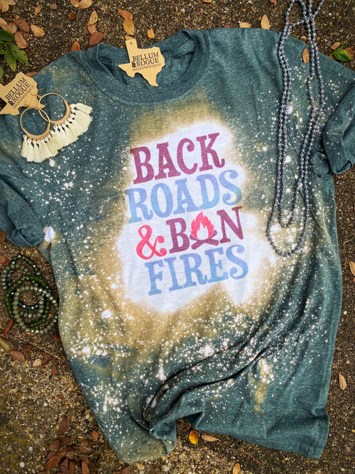Backroads & Bonfires Distressed Tee