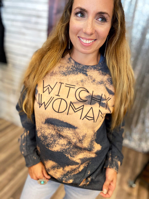 Witchy Woman Distressed Sweatshirt