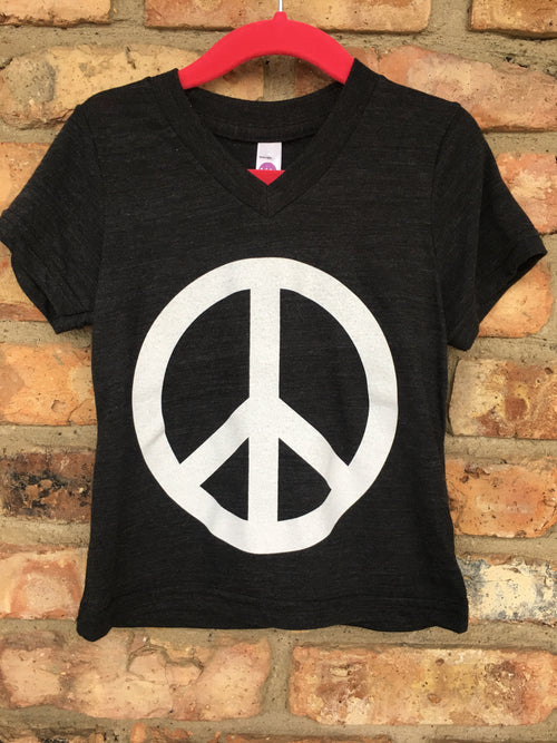 Girls Peace V-Neck