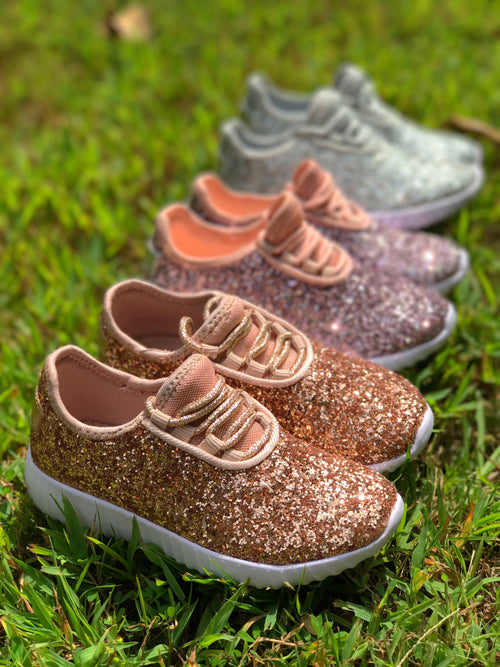 Girls Sequin Tennis Shoes