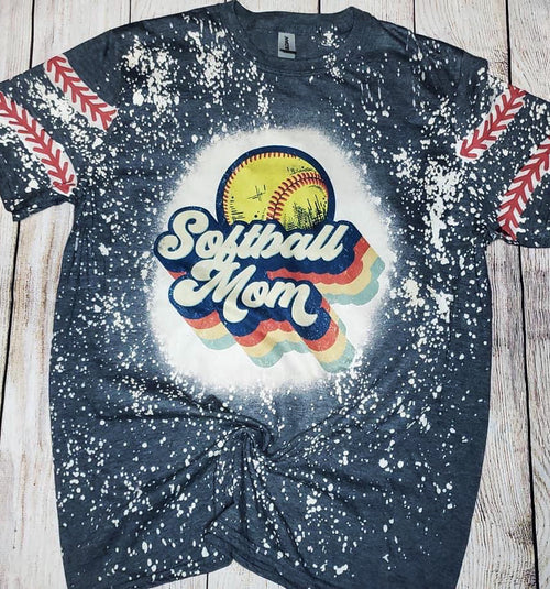 Retro Bleached Softball Tee