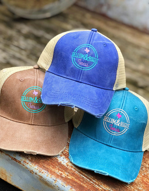 B&R Logo Vintage Washed Trucker Hat