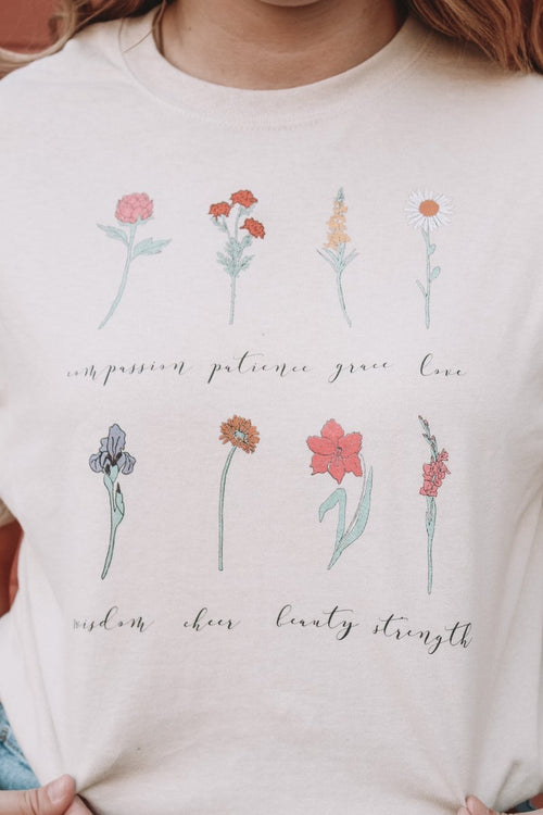 Wildflower Colorful Hand-Drawn Sweatshirt