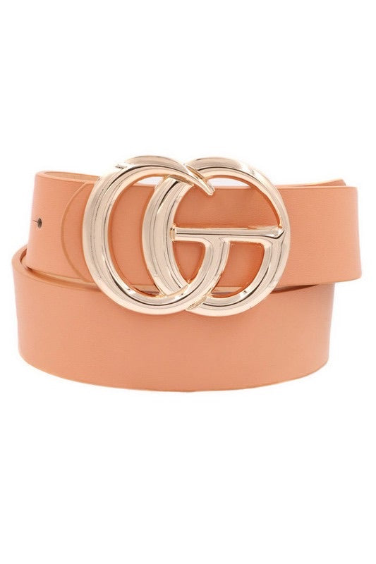 Leather Belt with GO Buckle