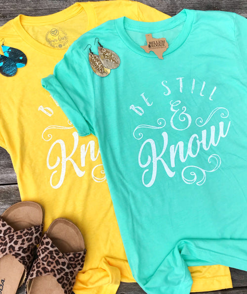 Be Still & Know Soft Tee Canary