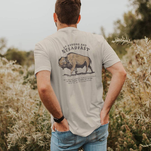 Be Strong & Steadfast Buffalo Tee