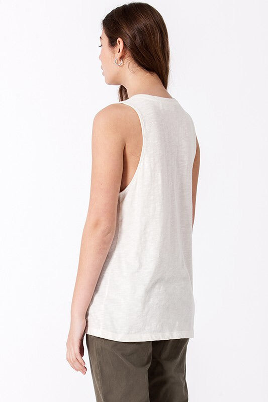 Marbled Cotton tank With Pocket