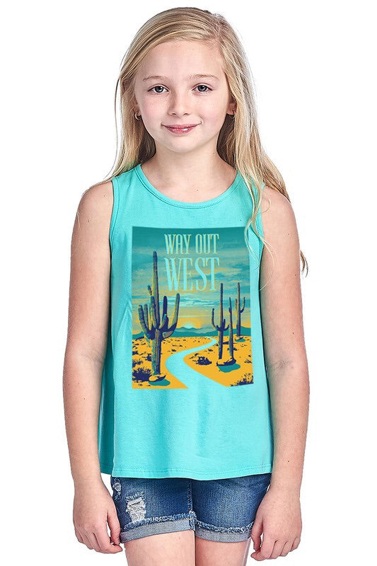 Way Out West Kids Tank