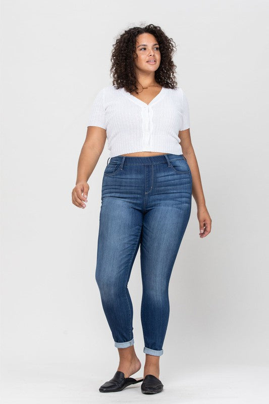 Cello Mid-Rise Skinny Jean with Elastic Waist PLUS SIZE