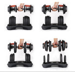 SO15 Free Shipping High Quality 15 Different Weight Adjustable Weights Dumbbell Bodybuilding With Coating (Single)