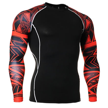 Men Rash Guard Breathable Male Long Sleeved Swimsuit Functional Diving Wind Surfing Surf Rash Guard Men's Surf Clothing Man