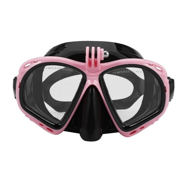 Professional Underwater Diving Mask Scuba Snorkel Swimming Scuba Diving Suitable For Most Sport Camera