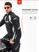 Motorcycle Jacket Men Windproof Motocross Jacket Clothing Protective Gear With Five Protector Guards Motorbike Jacket