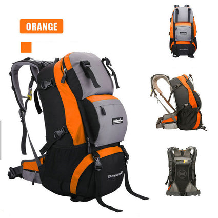 40L Waterproof Nylon Women&Men Travel Hiking Backpack Camping Climbing Rucksack Mountaineering Hiking Cycling Outdoor Sports Bag