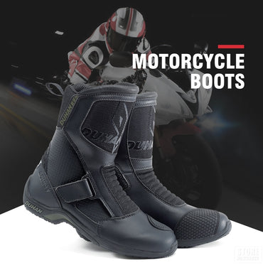 Motorcycle Boots Men Super Fiber Motorcycle Road Racing Shoe Motocross Boots  Motorcyclist Black