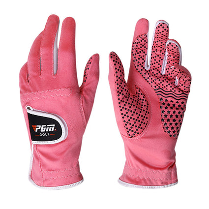 1 Pair PGM Golf Gloves Women Left Right Hand Anti-slip Soft Breathable Ladies Golf Gloves