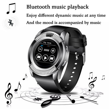 Men Women Smart Watch Wristwatch Support With Camera Bluetooth SIM TF Card Smartwatch For Android Phone Couple Watch
