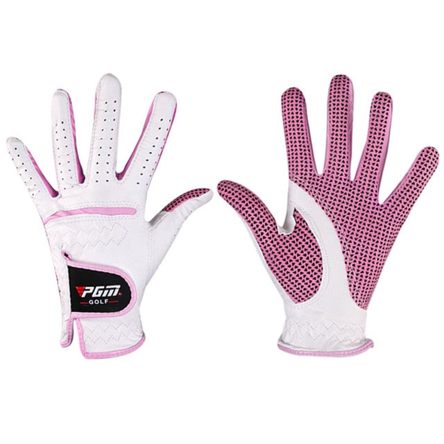 1pair PGM Golf Women Hands  Gloves Breathable Left Right Hand Gloves Non-slip Ladies Sport Golf Accessories