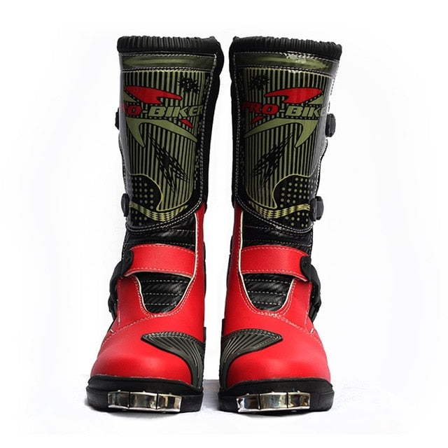 PRO-BIKER PU Leather Motorcycle Boots Motocross Boots Racing Shoes Motocross Off-Road Riding Motorbike Shoes For Men and Women