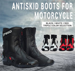 PRO-BIKER SPEED Ankle Joint Protective Gear Motorcycle Boots Shoes Motorcycle Riding Racing Motocross Boots BLACK RED WHITE