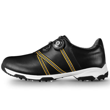 New Men Golf Shoes Genuine Leather Anti-Skid Waterproof Breathable Sports Sneakers