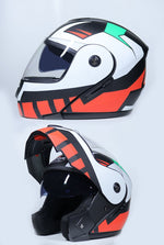 New Flip Up Racing Helmet Modular Dual Lens Motorcycle Helmet Full Face Safe Helmets  S M L XL