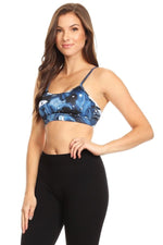 Women's Yoga Bra with Criss Cross Cutout